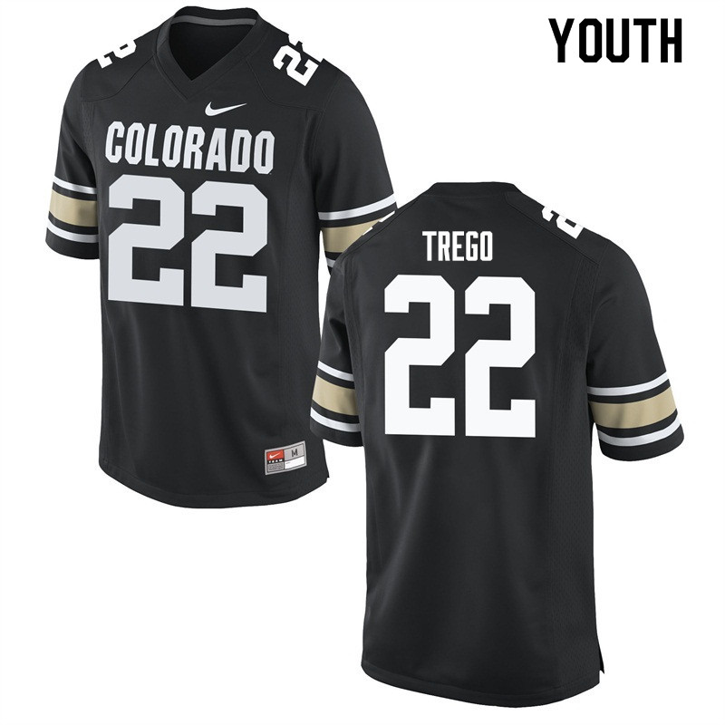 Youth #22 Kyle Trego Colorado Buffaloes College Football Jerseys Sale-Home Black